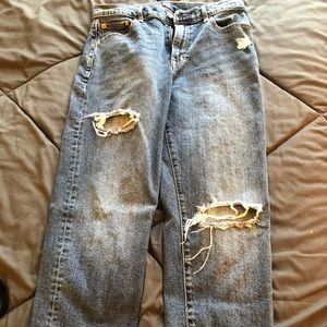 Gap distressed crop jeans high rise size 28
